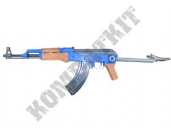 P1093-S AK47 Style Airsoft BB Gun Combat Rifle Black and Blue